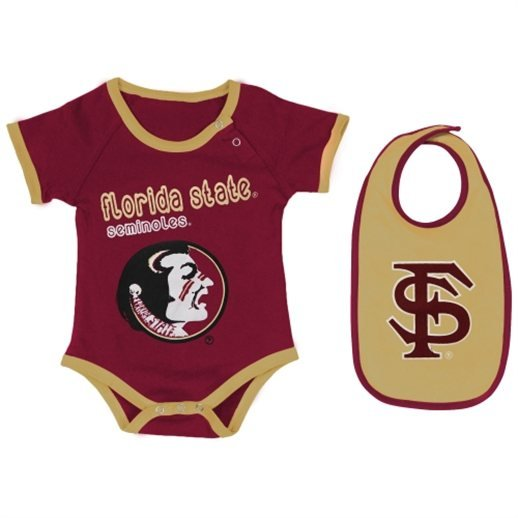 Florida St Seminole Gator UCF Baby esie Dress 0 24M